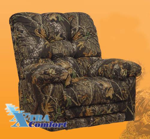 Magnum Heat Massage Mossy Oak Camouflage Chaise Rocker