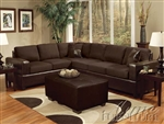 Madrid Chocolate Easy Rider & Espresso Bycast Sectional by Acme - 00107