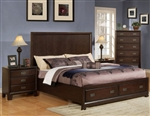 Bellwood Storage Bed in Dark Cherry Finish by Acme - 00160Q