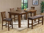 Morrison 6 Piece Counter Height Dining Set in Ash Oak Finish by Acme - 00845