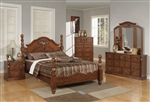 Ponderosa Poster Bed 6 Piece Bedroom Set in Walnut Finish by Acme - 01720