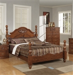 Ponderosa Poster Bed in Walnut Finish by Acme - 01720Q
