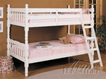 Twin/Twin Bunk Bed in White Finish by Acme - 02298