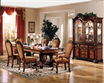 Chateau De Ville Double Pedestal Table 7 Piece Dining Set in Cherry Finish by Acme - 04075