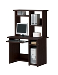 Linda 2 Piece Computer Desk with Hutch in Espresso Finish by Acme - 04690