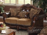 Dreena Loveseat in Cherry Finish by Acme - 05496