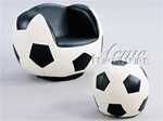 All Star Soccer Chair & Ottoman by Acme - 05525
