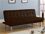 Trenton Chocolate Microfiber Adjustable Sofa Bed by Acme - 05591