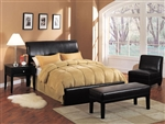 Espresso Leather Like Bycast Queen Bed by Acme - 05625