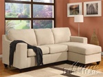 Vogue Reversible Chaise Sectional in Beige Color Fabric by Acme - 05913