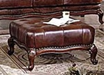 Birmingham Tri-Tone Brown Leather Ottoman by Acme - 05948