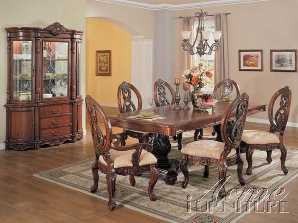 black pedestal dining table set cherry finish piece acme counter height sets