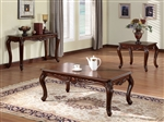 Birmingham Coffee Table in Brown Cherry Finish by Acme - 10240