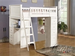 Willoughby White Finish Twin Loft Bed by Acme - 10970