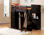 Willoughby Black Finish Twin Loft Bed by Acme - 10980