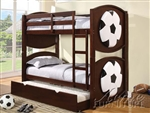 All Star Soccer Espresso Finish Twin/Twin Bunk Bed by Acme - 11954