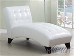 Anna White Bycast Chaise by Acme - 15037