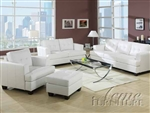 Diamond White Leather 2 Piece Sleeper Sofa Set by Acme - 15062-S
