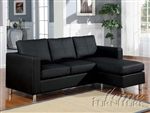 Kemen Black Bycast Reversible Chaise Sectional by Acme - 15065