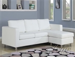 Kemen White Bycast Reversible Chaise Sectional by Acme - 15068