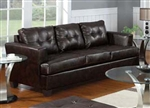 Diamond Brown Leather Sofa by Acme - 15070