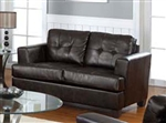 Diamond Brown Leather Loveseat by Acme - 15071
