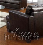 Diamond Brown Leather Chair by Acme - 15072