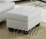 Diamond White Leather Ottoman by Acme - 15098