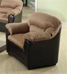 Carin Saddle Microfiber Dark Brown Bycast Chair by Acme - 15142