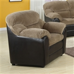 Connell Brown Corduroy / Espresso Bycast Chair by Acme - 15947