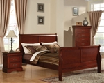 Louis Philippe III Sleigh Bed in Cherry Finish by Acme - 19520Q