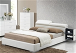 Manjot White Upholstered Storage Bed by Acme - 20420Q