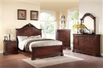 Estrella Panel Bed 6 Piece Bedroom Set in Dark Cherry Finish by Acme - 20730