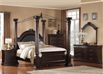 Roman Empire II Canopy 6 Piece Bedroom Set in Cherry Finish by Acme - 21340