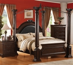 Roman Empire II Canopy Bed in Cherry Finish by Acme - 21340Q