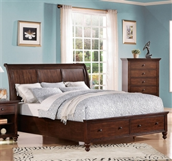 Aceline Storage Bed in Brown Cherry Finish by Acme - 21380Q