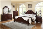 Gwyneth Low Post Bed 6 Piece Bedroom Set in Cherry Finish by Acme - 21860