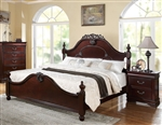 Gwyneth Low Post Bed in Cherry Finish by Acme - 21860Q