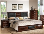 Windsor Storage Bed in Merlot Finish by Acme - 21910Q