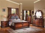 Nathaneal 6 Piece Bedroom Set in Tobacco Finish by Acme - 22310