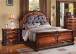 Nathaneal Sleigh Bed in Tobacco Finish by Acme - 22310Q