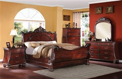 Abramson 6 Piece Bedroom Set in Cherry Finish by Acme - 22360