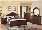 Beverly Sleigh Bed 6 Piece Bedroom Set in Dark Cherry Finish by Acme - 22730