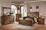 Arielle Panel Bed 6 Piece Bedroom Set in Oak Finish by Acme - 24470