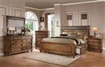 Arielle Storage Bed 6 Piece Bedroom Set in Oak Finish by Acme - 24480