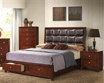 Ilana Storage Bed in Brown Cherry Finish by Acme - 24590Q