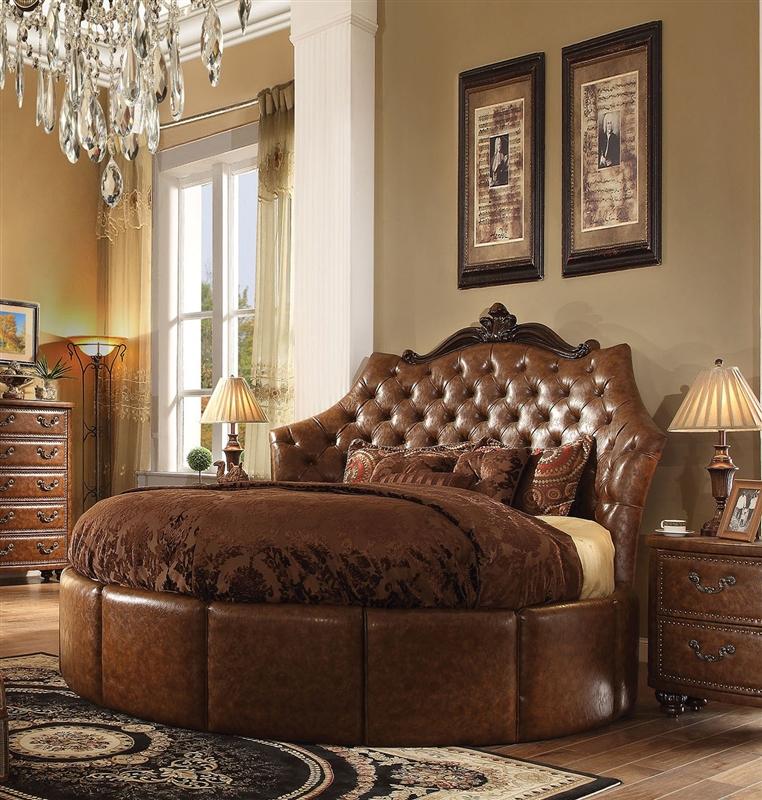 Varada Crescent 6 Piece Traditional Bedroom Set in Antique Cherry ...
