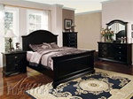 6 Piece Newville Bedroom Set in Black Finish by Acme - 4740Q