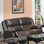 Fullerton Reclining Loveseat in Brown Bonded Leather Match by Acme - 50011
