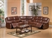 Fullerton 3 Piece Power Reclining Sectional in Brown Bonded Leather by Acme - 50200-SEC
